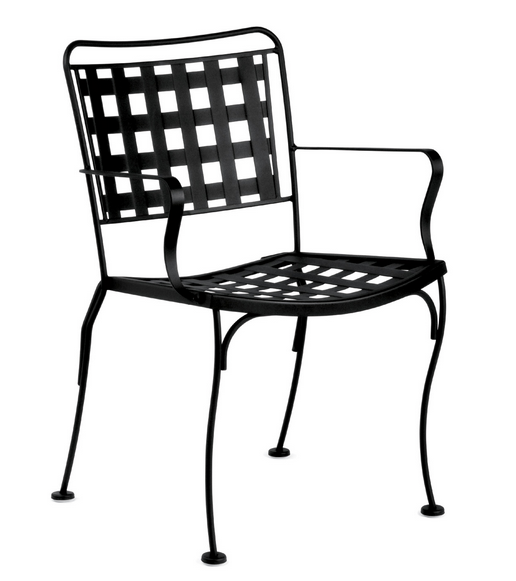 Victoria Wrought Iron Dining Arm Chair – Stackable