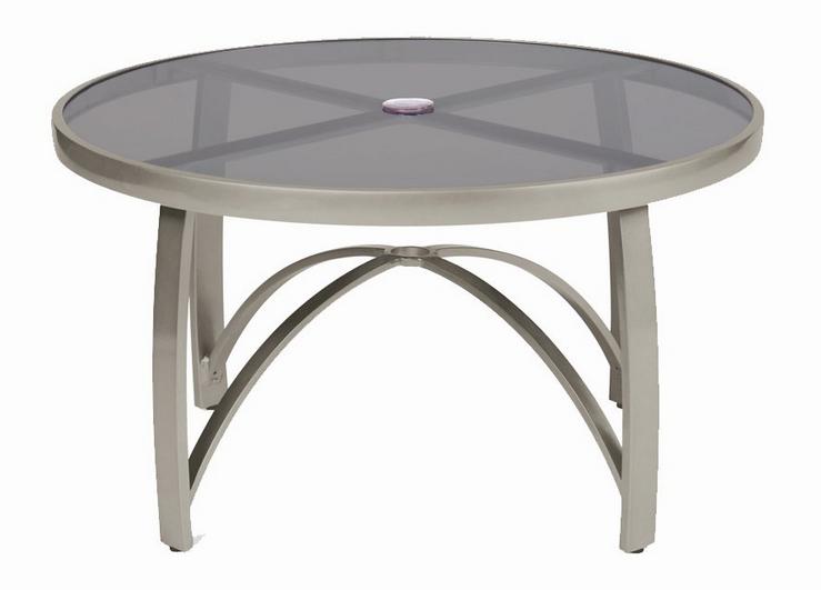 Wyatt Flex 36� Round Umbrella Table – Smoked Glass