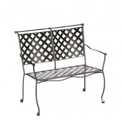 Maddox Wrought Iron Bench – Stackable