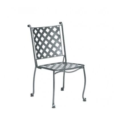 Maddox Wrought Iron Bistro Side Chair – Stackable