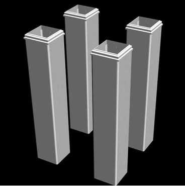 Pergola Tall Base Moldings