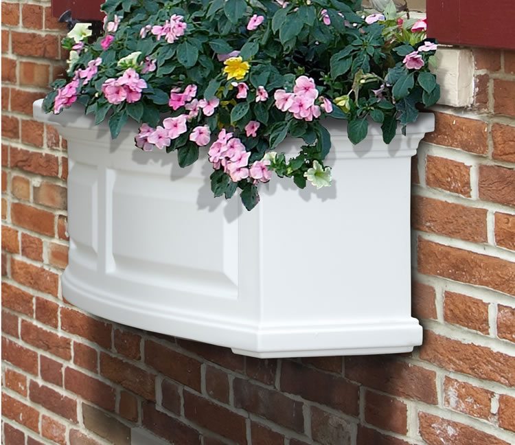 Nantucket 2′ Window Box White, Black, Clay