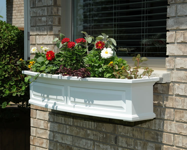 Nantucket 4FT Window Box White, Black, Clay, Red, Green