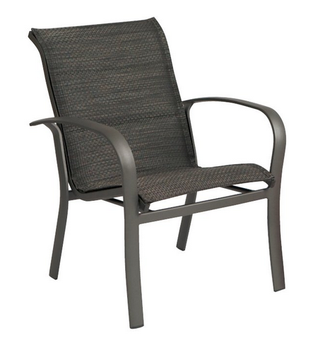 Fremont Aluminum Padded Sling Dining Arm Chair