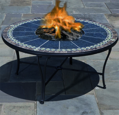 "Ponte 48 "" Beverage Cooler / Firepit Chat Table Kit"