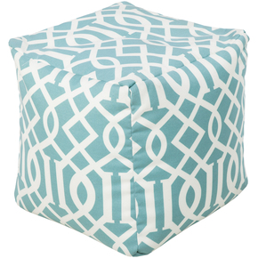Surya Cube Aqua Pouf Ottoman