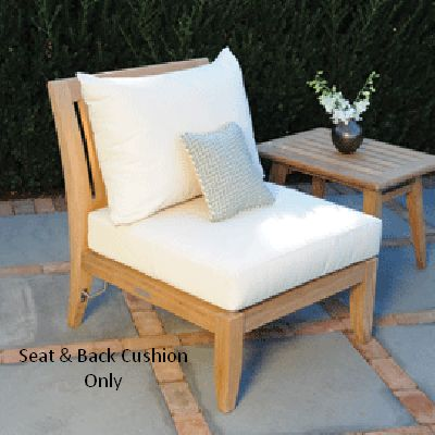 Kingsley-Bate Seat and Back Cushion For Ipanema Armless Chair and Settee