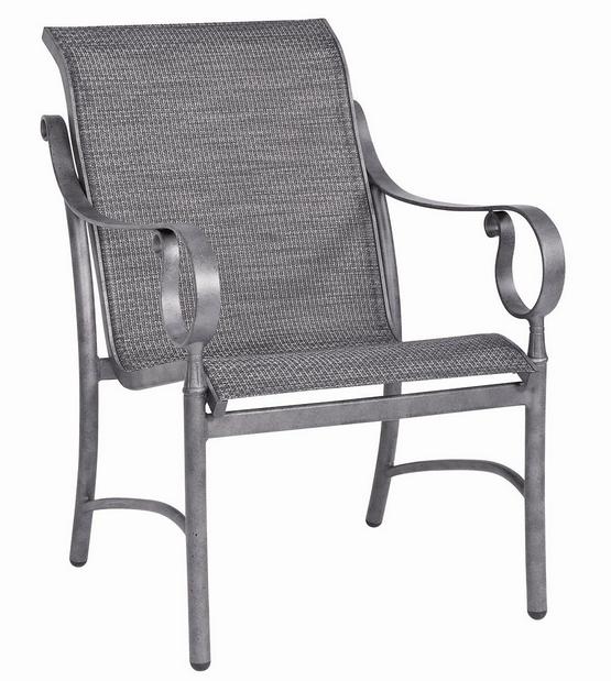 Ridgecrest Aluminum Sling Dining Arm Chair