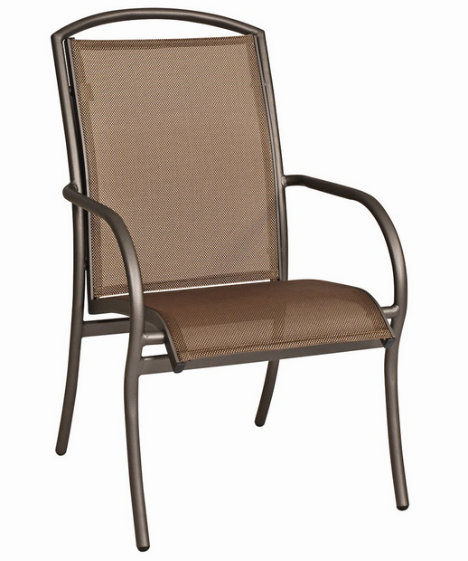 Rivington Aluminum Sling Dining Arm Chair – Stackable