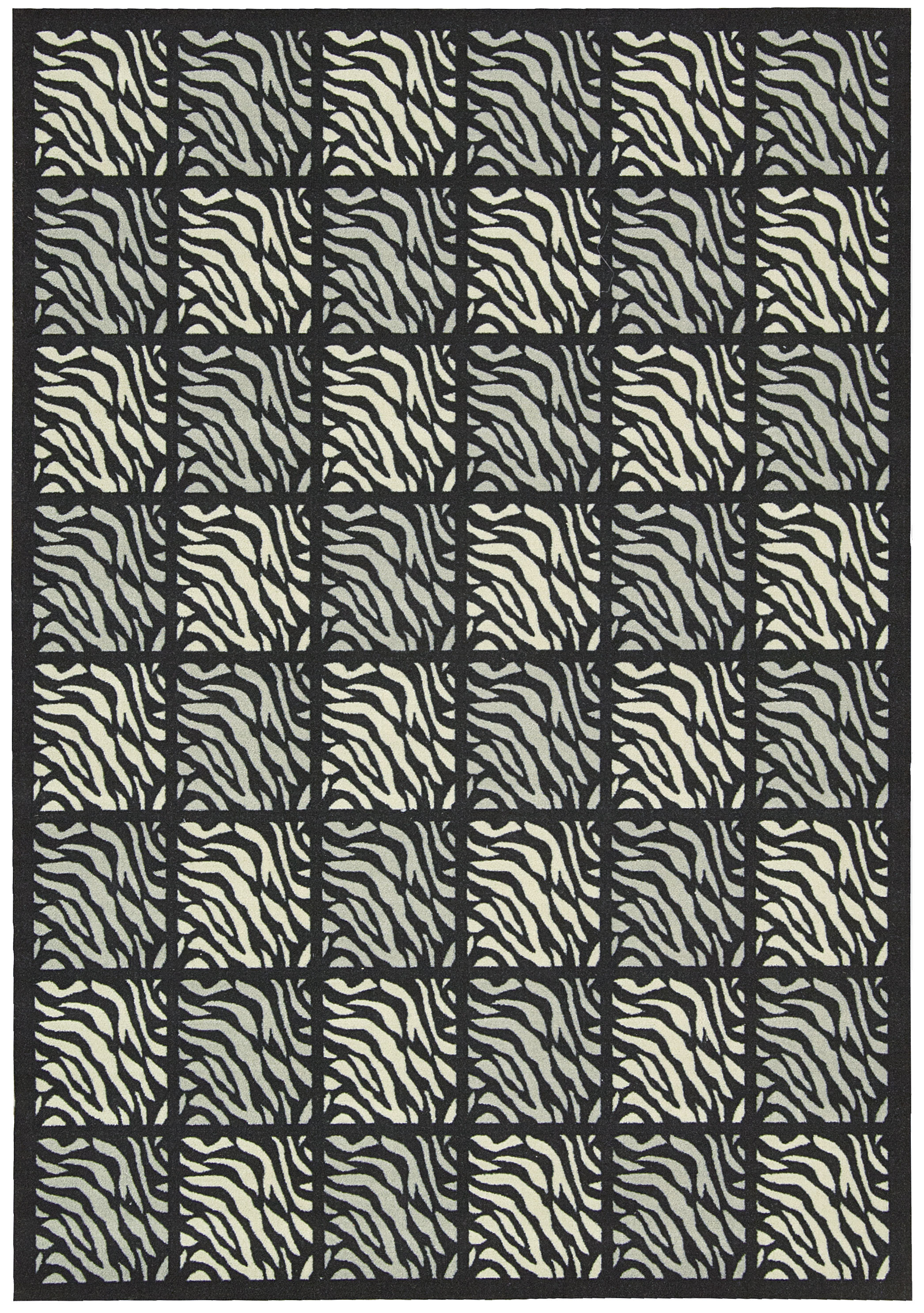 Nourison Indoor/Outdoor Home & Garden Black Tiger Rug