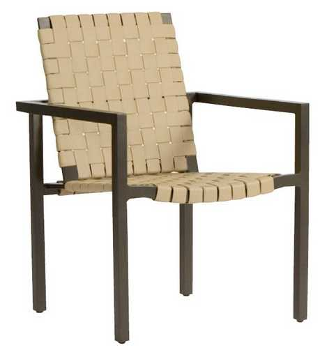 Salona Strap by Joe Ruggiero Aluminum Dining Arm Chair