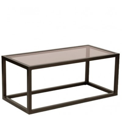 Woodard Salona Chat Table – Bronze Glass