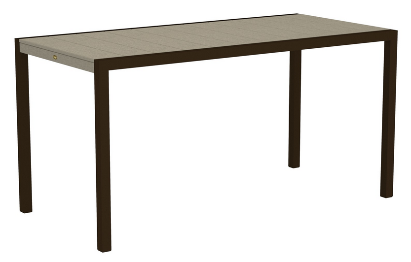 Trex� Outdoor Furniture� Surf City 36� X 73� Rectangular Counter Table