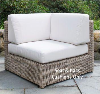 Kingsley-Bate Sag Harbor Sectional Corner Chair Seat & Back Cushions