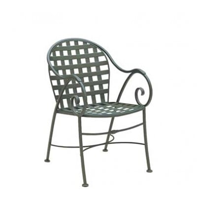 Sheffield Wrought Iron Barrel Dining Arm Chair