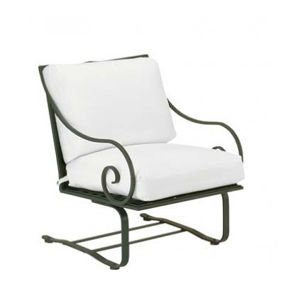 Sheffield Wrought Iron Spring Lounge Chair with Cushions