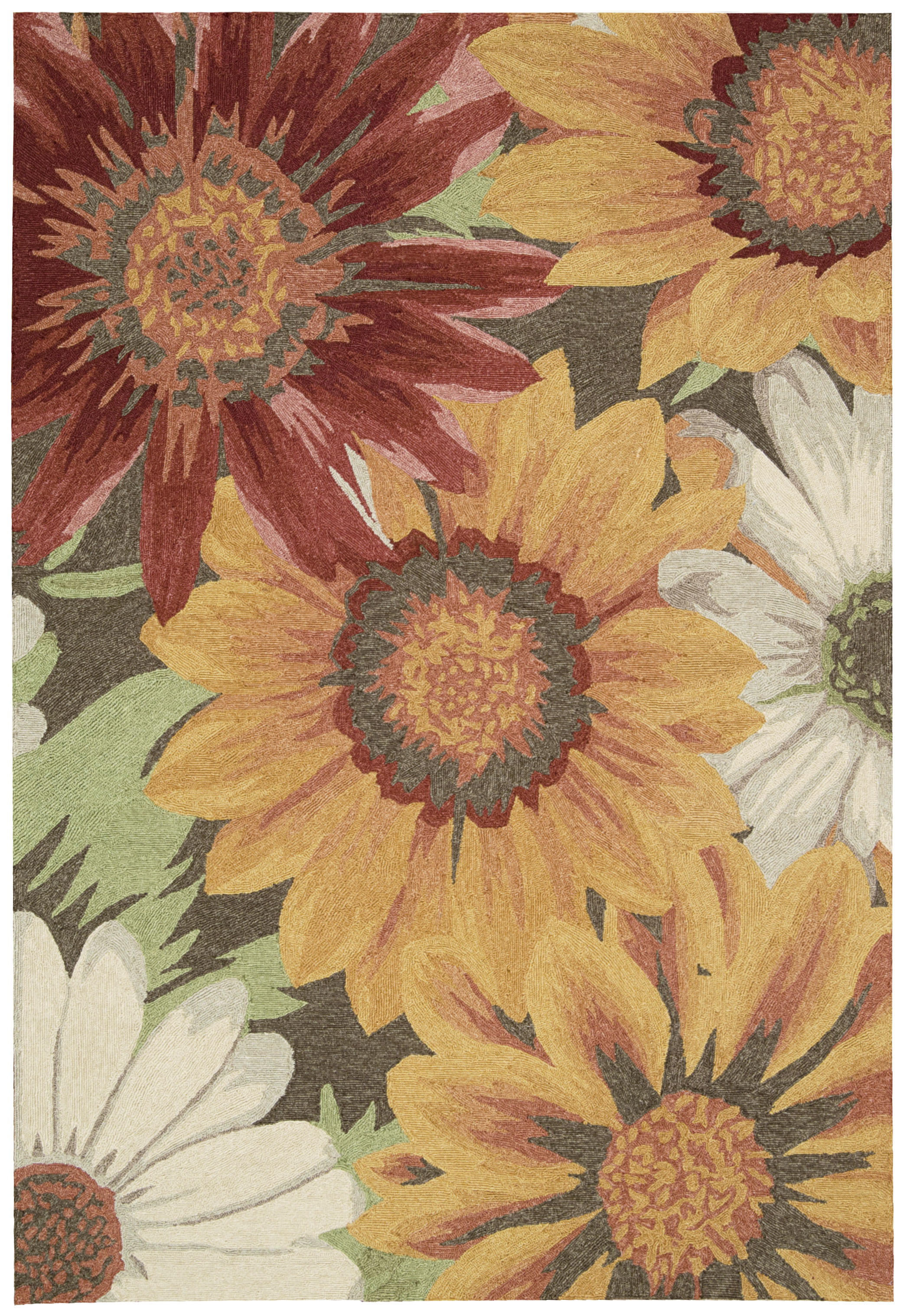 Nourison Indoor/Outdoor South Beach Sunflower Rug