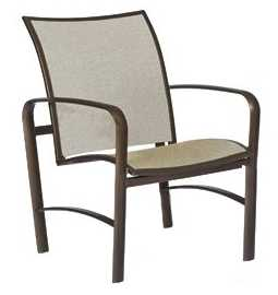 Sterling Aluminum Flex Stationary Lounge Chair