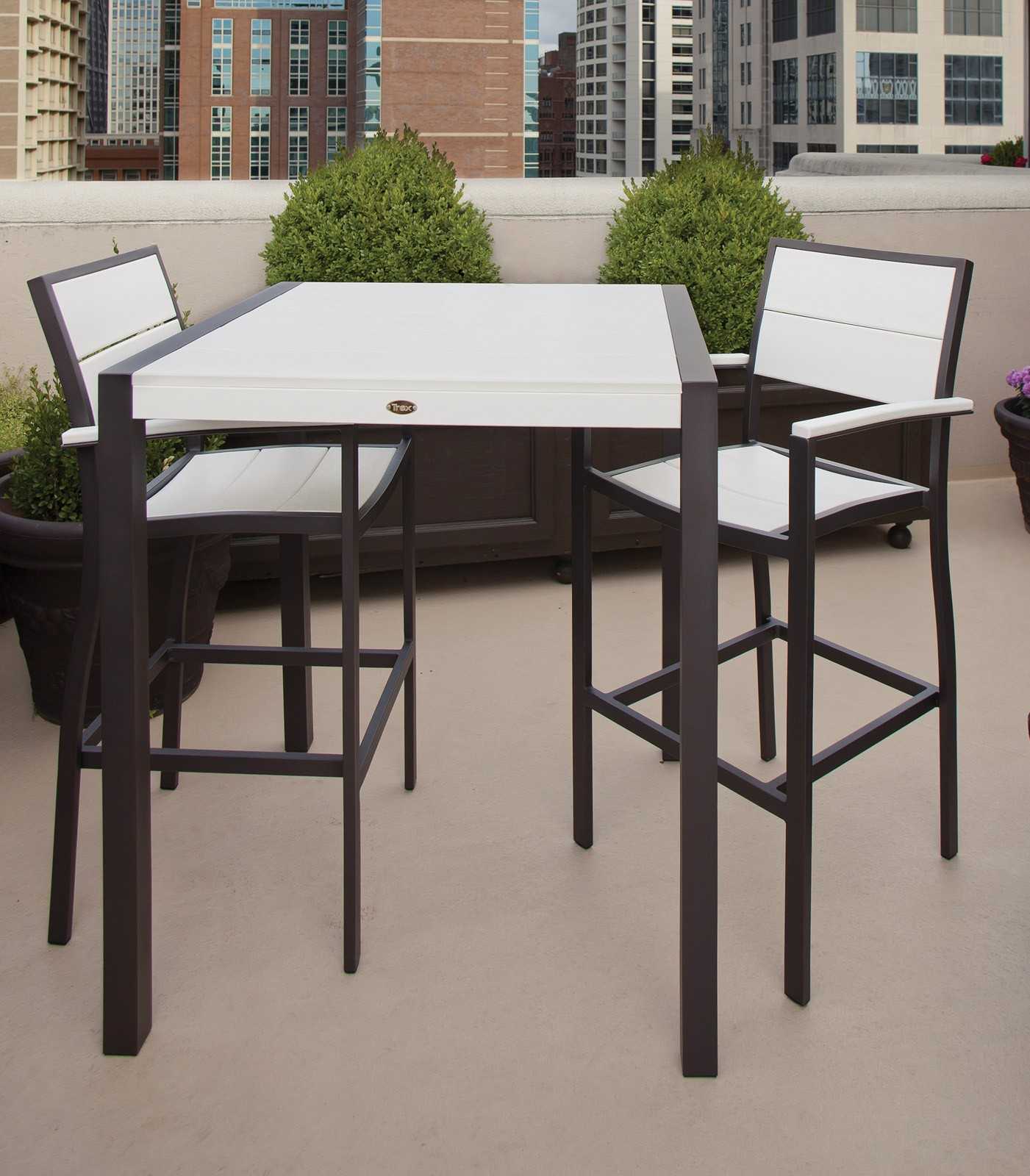 Trex� Outdoor Furniture� Surf City 3 Piece Dining Ensemble