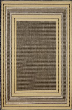 TransOcean Terrace – Etched Border Silver Rug