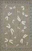 TransOcean Terrace - Dragonfly Silver Rug
