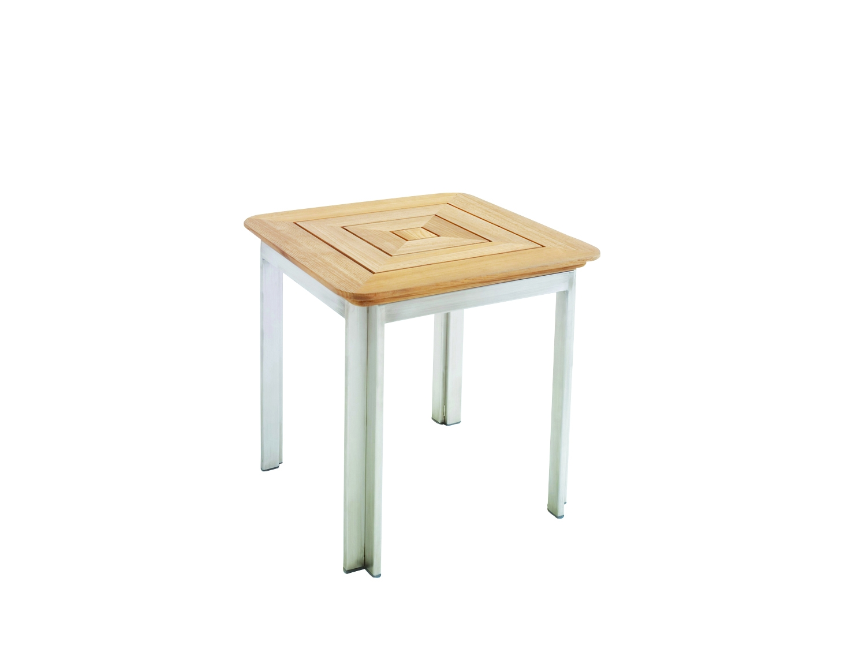 Kingsley-Bate Tivoli Stainless Steel and Teak Side Table
