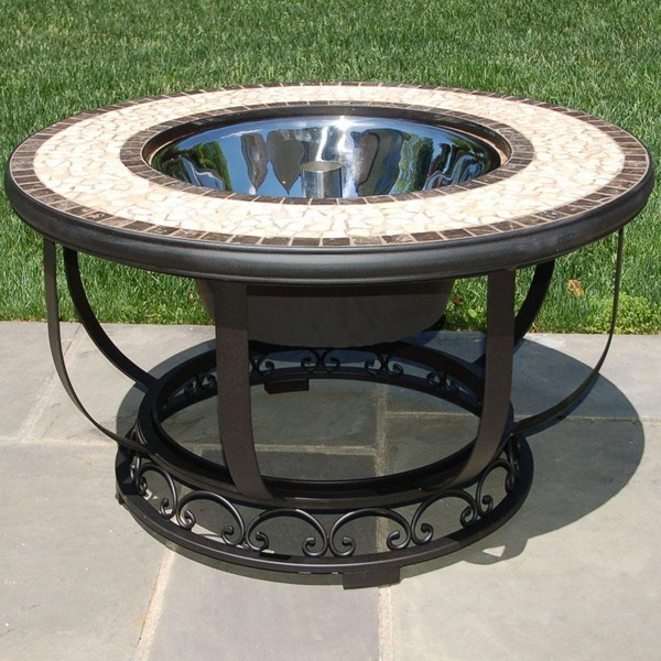 Umbria Specialty Beverage Cooler / Firepit Chat Table Kit