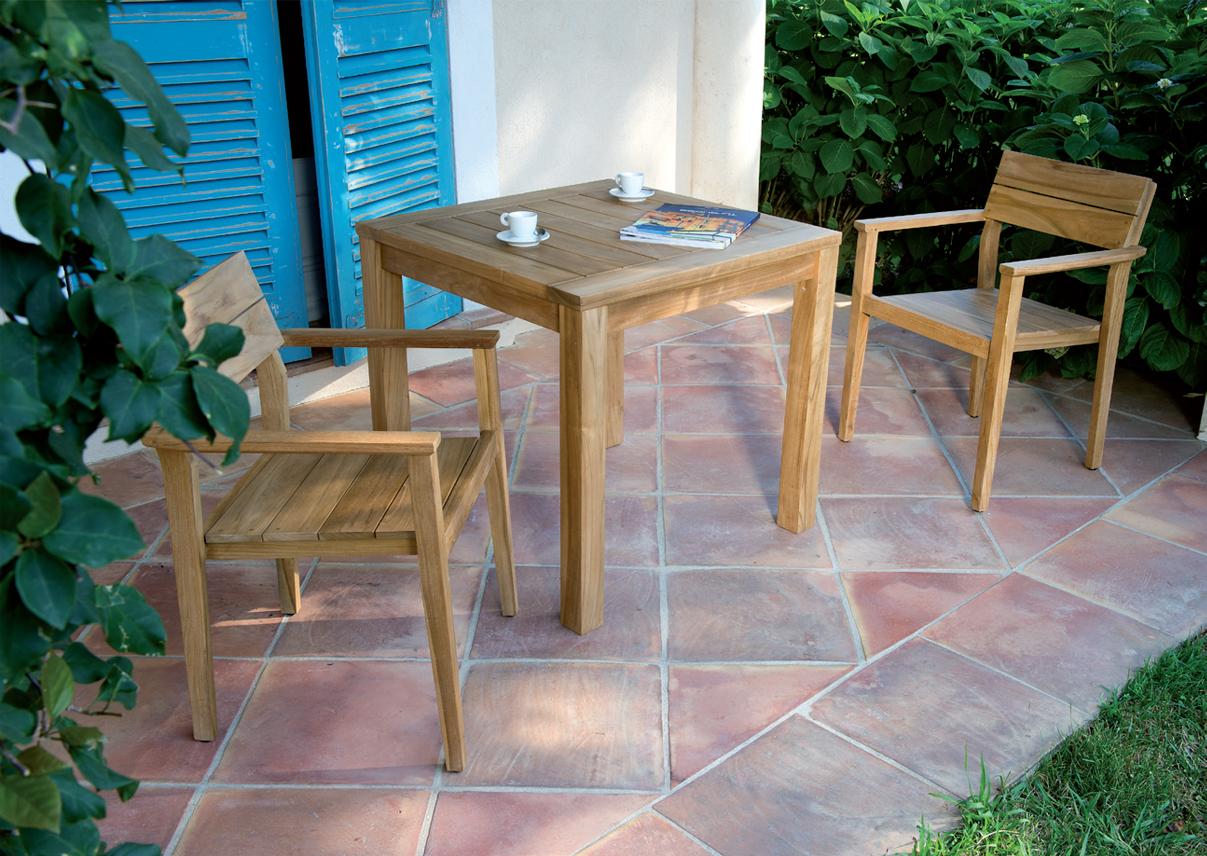 Les Jardins Valtek Square Teak Dining Table