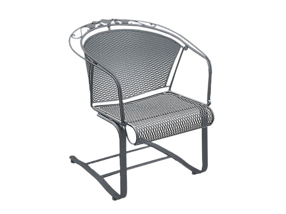 Briarwood Wrought Iron Spring Base Barrel Chair