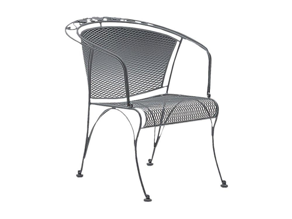 Briarwood Wrought Iron Barrel Dining Chair