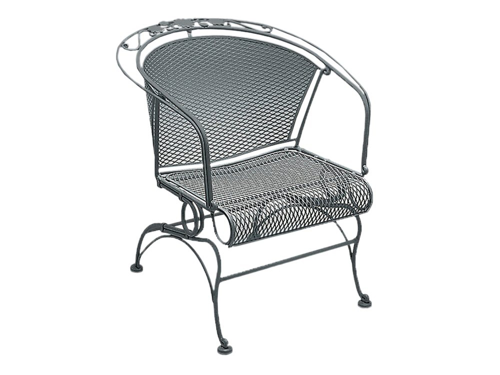 Briarwood Wrought Iron Coil Spring Barrel Chair
