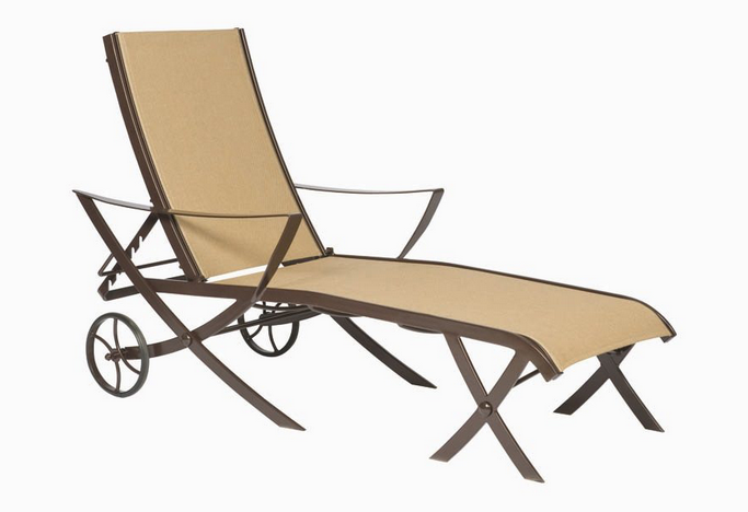 Cromwell Wrought Iron Sling Adjustable Chaise Lounge