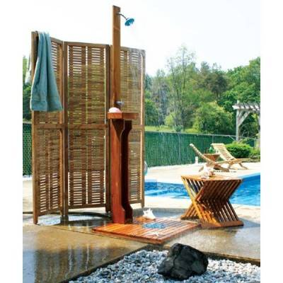 Teak Outdoor Shower