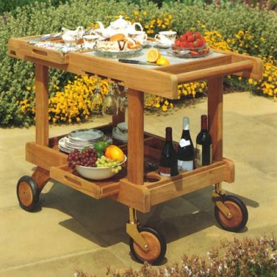 Crichton Teak Serving Trolley