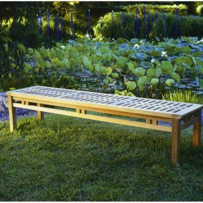 Mandalay Teak 6' Backless Bench