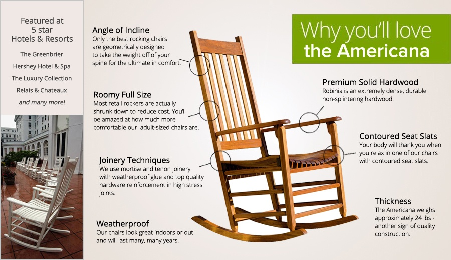 Americana Outdoor Rocking Chair