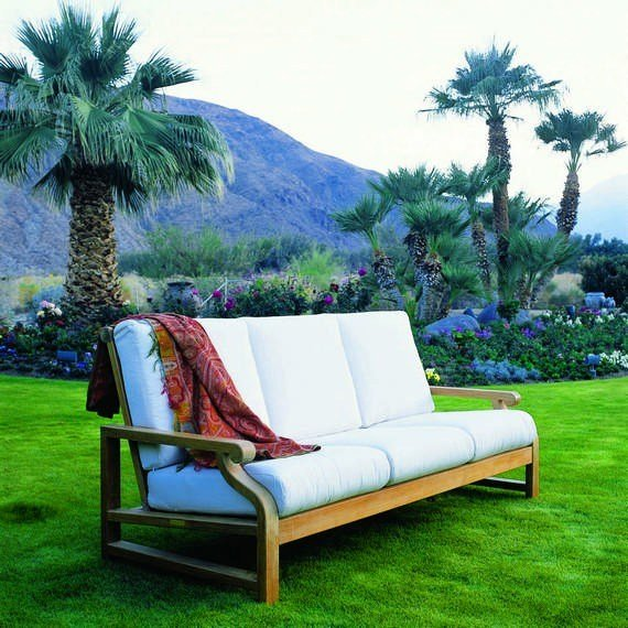 Kingsley Bate Nantucket Teak Deep Seating Sofa