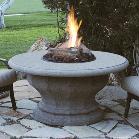 inverted round fire pit table with concrete top. Black Bedroom Furniture Sets. Home Design Ideas