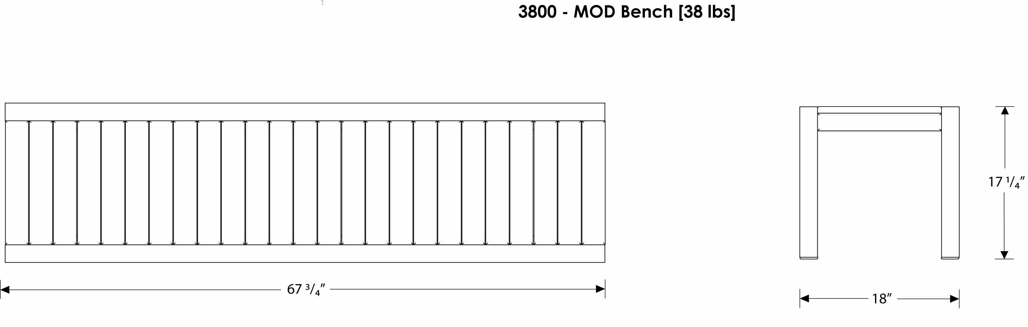 Polywood 174 Mod Bench