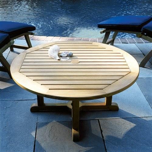 Kingsley Bate Es Teak Round Coffee, Round Teak Coffee Table
