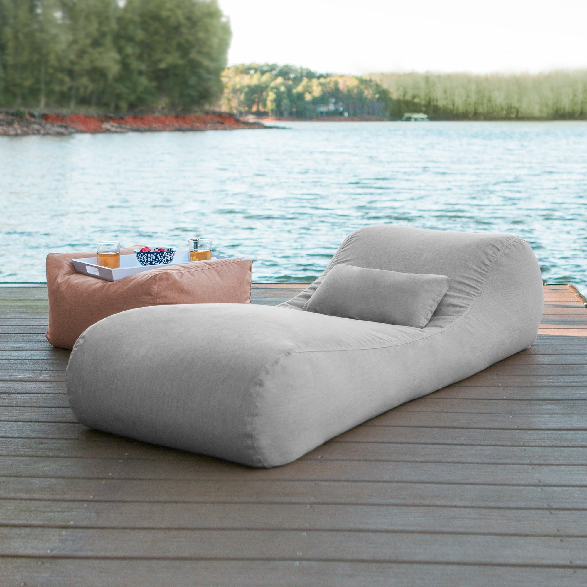 Marvelous Arlo Outdoor Bean Bag Sun Lounger Granite Ocoug Best Dining Table And Chair Ideas Images Ocougorg
