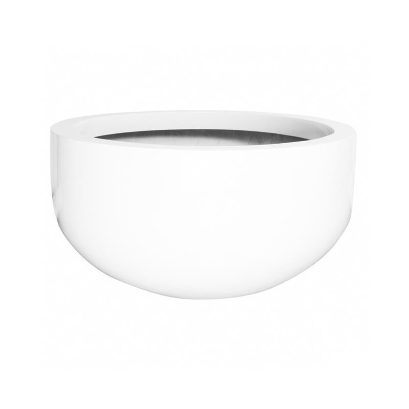 City Bowl Fiberstone Planter Small Glossy White