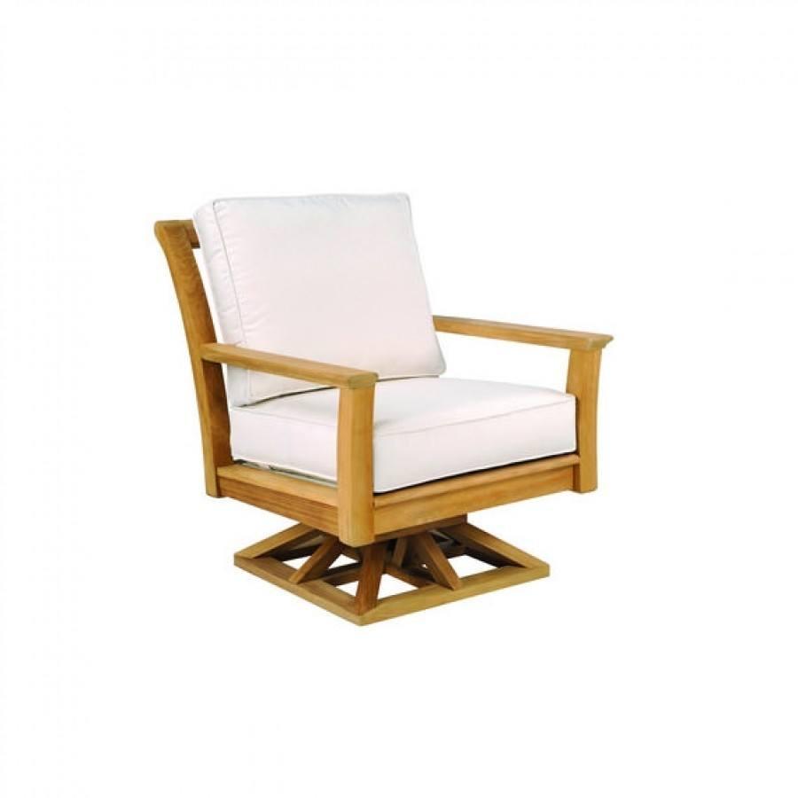 Kingsley Bate Chelsea Teak Deep Seating Swivel Rocker Lounge Chair Cover By