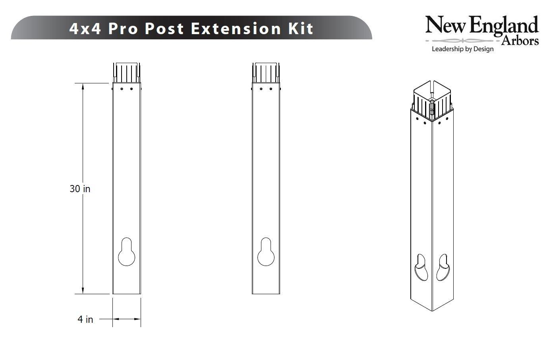 Arbor 4x4 Post Extension Kit