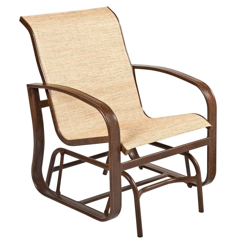 Woodard Cayman Isle Aluminum Sling Gliding Chair