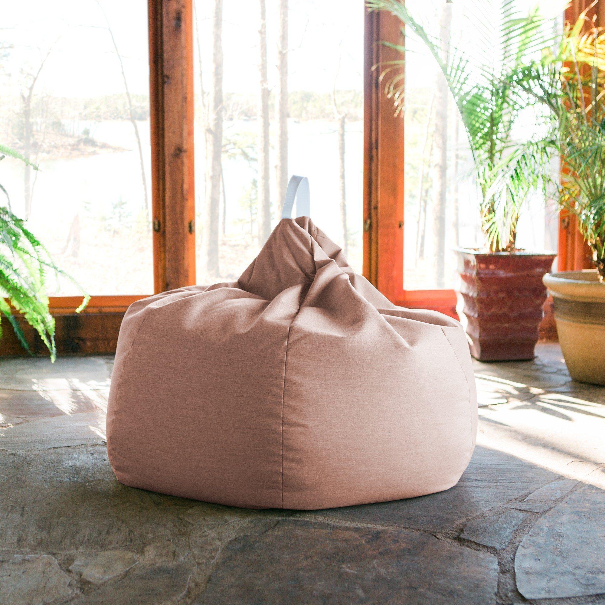 Marvelous Kiss Outdoor Patio Bean Bag Chair Petal Machost Co Dining Chair Design Ideas Machostcouk