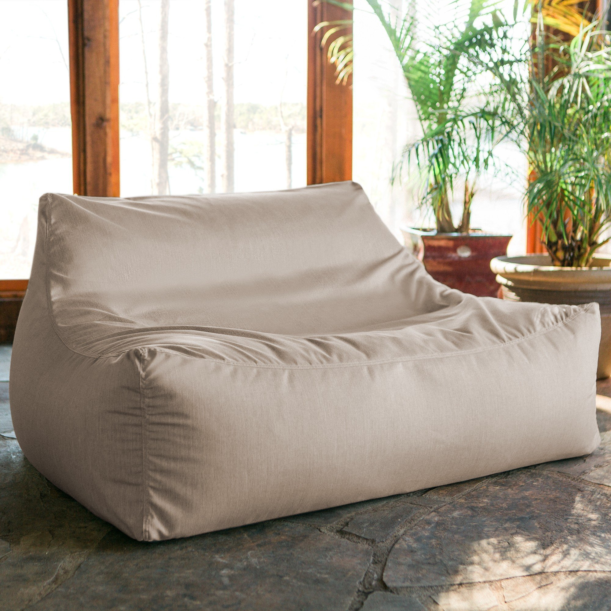 Astounding Lavista Outdoor Bean Bag Loveseat Flax Ocoug Best Dining Table And Chair Ideas Images Ocougorg