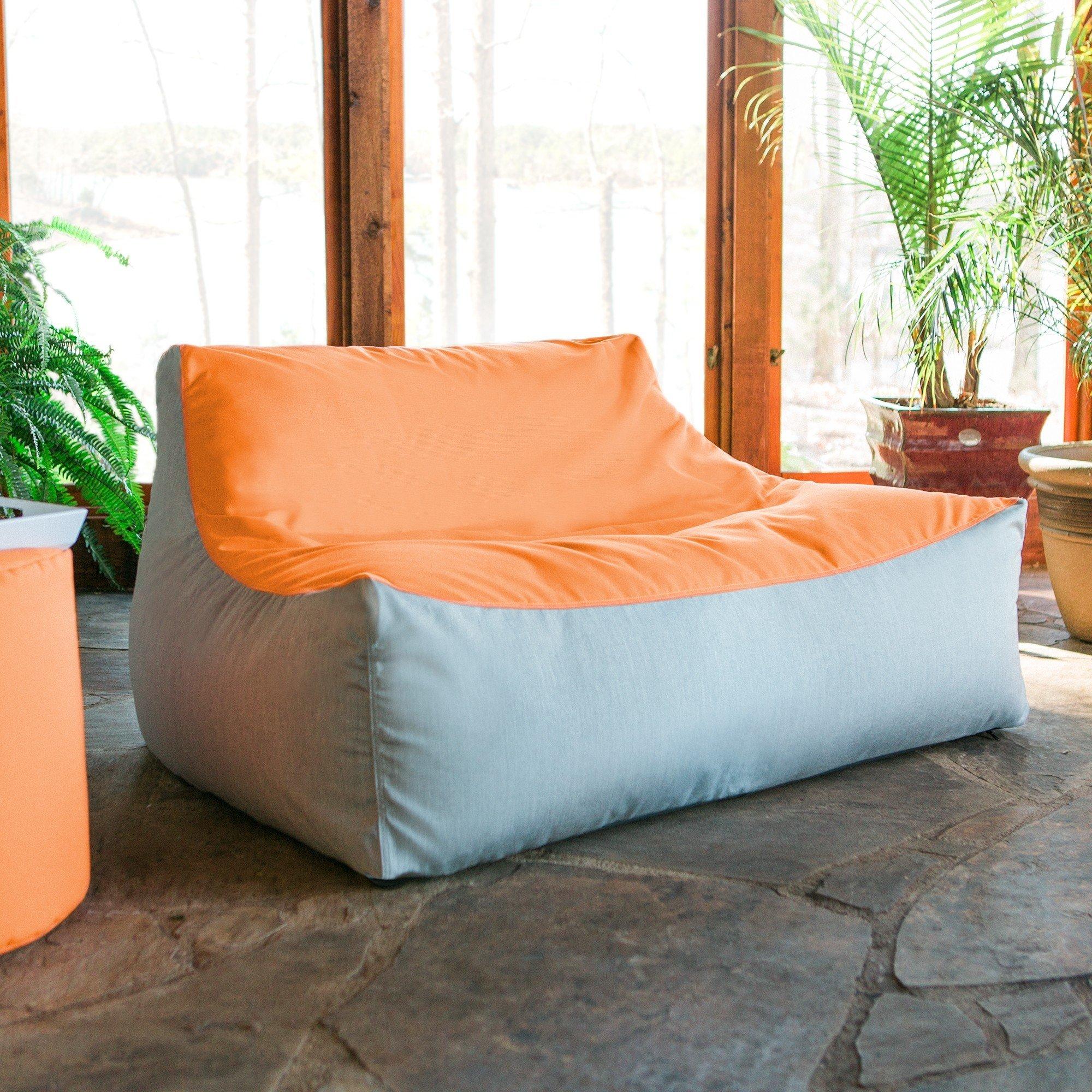 Remarkable Lavista Outdoor Bean Bag Loveseat Tangerine Granite Ocoug Best Dining Table And Chair Ideas Images Ocougorg