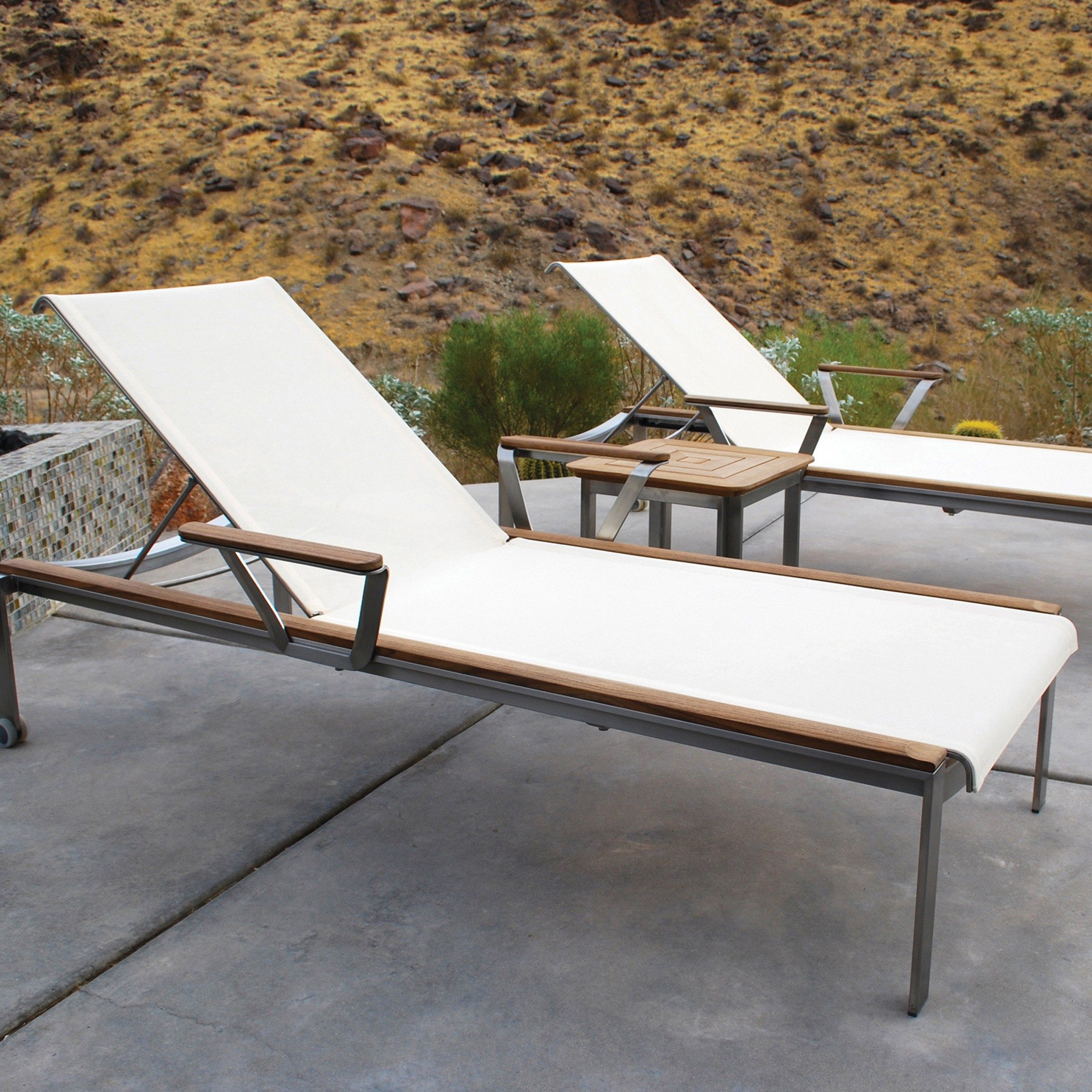 Picture of: Kingsley Bate Tivoli 3 Piece Stainless Steel And Teak Chaise