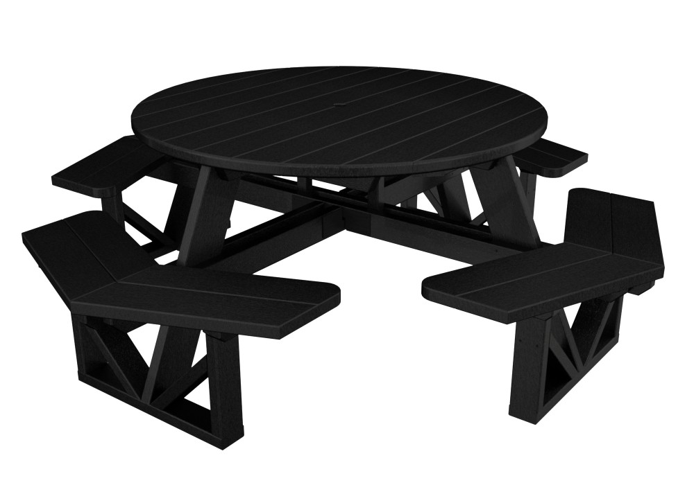 POLYWOOD Park Octagon Picnic Table - Polywood park picnic table